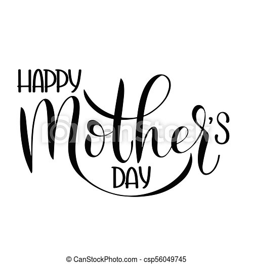 happy mother day lettering greeting card design hand drawn text Happy 18th Birthday Greetings happy mother day lettering csp56049745