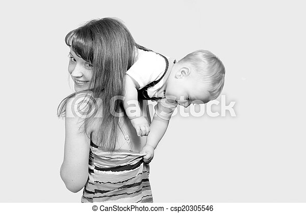 Happy mother with a child - csp20305546