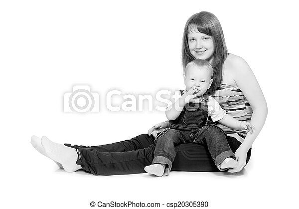 Happy mother with a child - csp20305390