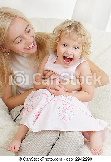 Happy mother with a daughter  - csp12942290