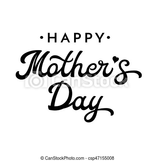 Happy mothers day brush lettering black letters isolated on white happy mothers day brush lettering black letters isolated on white background decoration for greeting cards design font vector illustration m4hsunfo