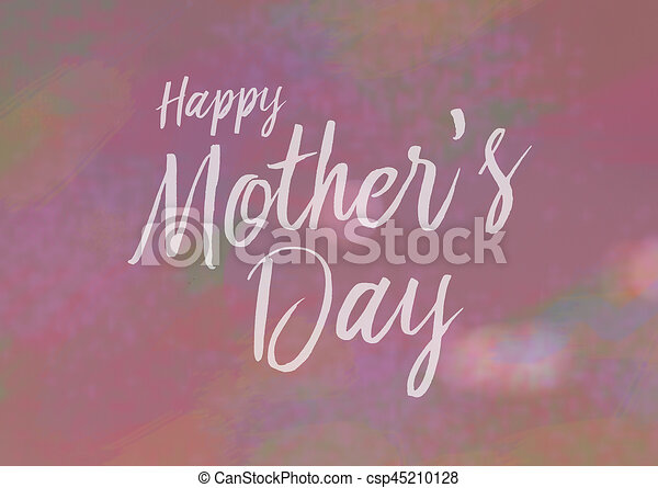 Happy mothers day card with calligraphy type pink clip art