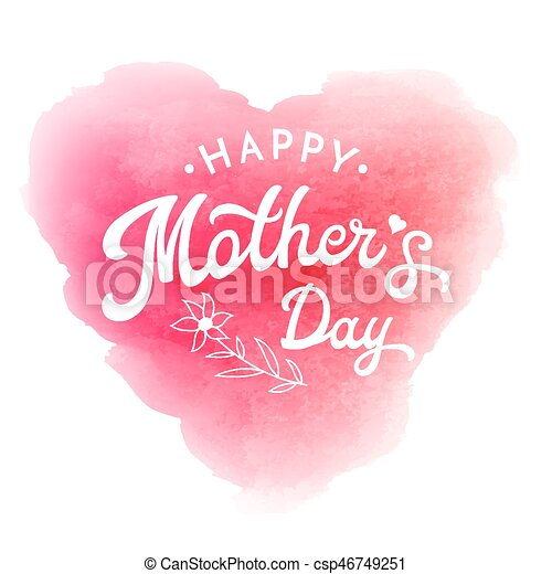 happy mother s day card or poster template with flower and hand