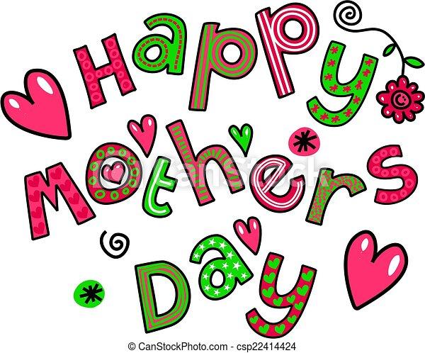 happy mothers day cartoon doodle simple hand drawn doodle clip rh canstockphoto ca happy mothers day clip art free happy mother's day clip art for facebook