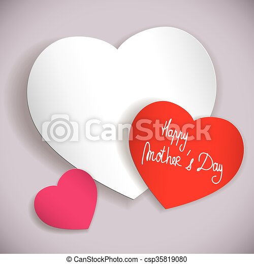 happy mother s day hearts composition full vector