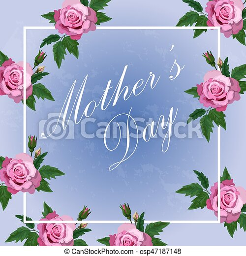 Very high quality original floral design of happy mothers day very high quality original floral design of happy mothers day greeting card or template roses in frame m4hsunfo