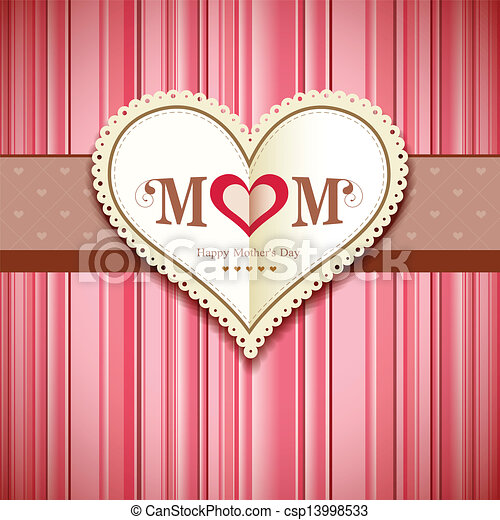 Happy Mothers Day Greeting Card Design Background Vector Illustration