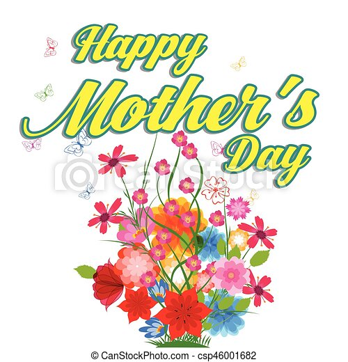 Happy mothers day greeting card with flowers happy mothers day greeting card with flowers csp46001682 m4hsunfo