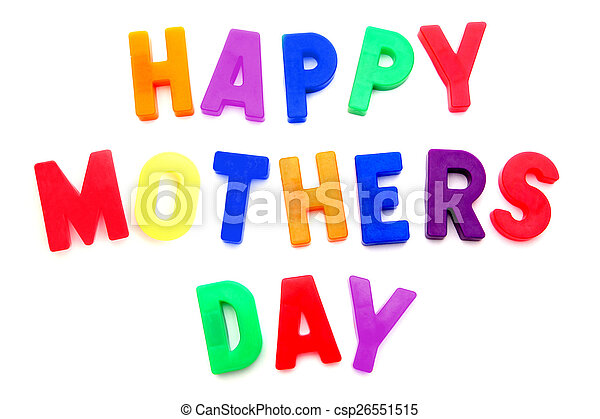 Happy Mothers Day magnetic letters - csp26551515