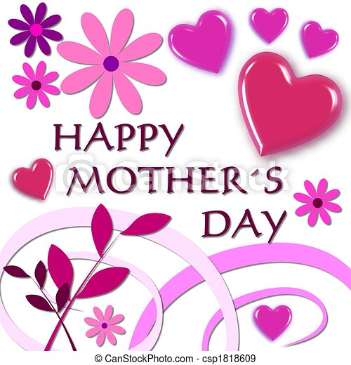 happy mothers day pink rh canstockphoto com free border clipart for mother's day free happy mothers day clipart