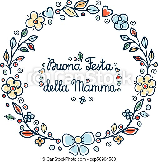 Happy mothers day round flower frame italian happy mothers day happy mothers day round flower frame italian csp56904580 m4hsunfo