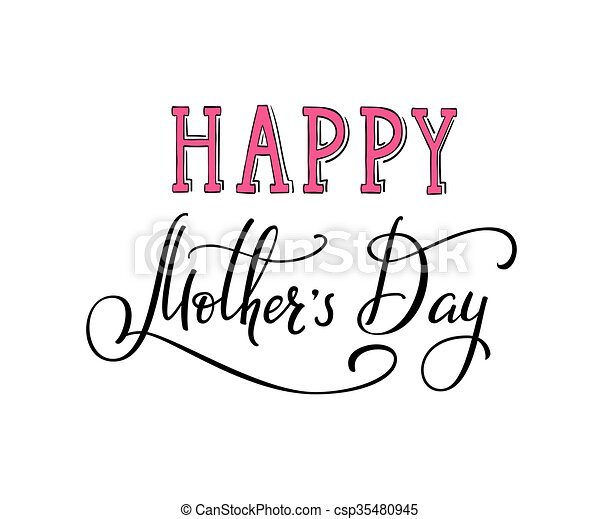 Happy Mothers Day Typography