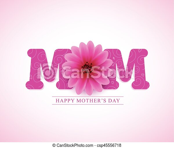 Happy mothers day vector greetings card design with 3d mom text and happy mothers day vector greetings card design with 3d mom text and pink flower in white background vector illustration m4hsunfo