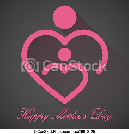 Happy Mothers Day, vector - csp29910125