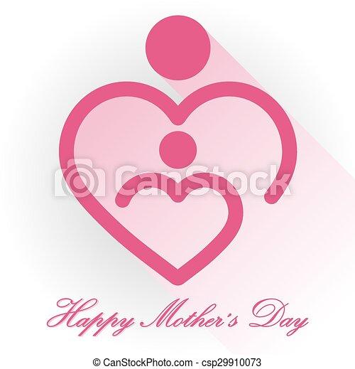 Happy Mothers Day, vector - csp29910073