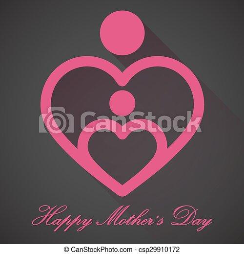 Happy Mothers Day, vector - csp29910172