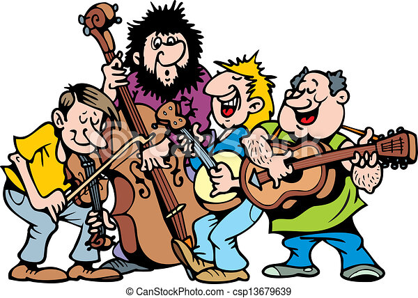 happy music band on the white background rh canstockphoto com band clip art free bank clipart images