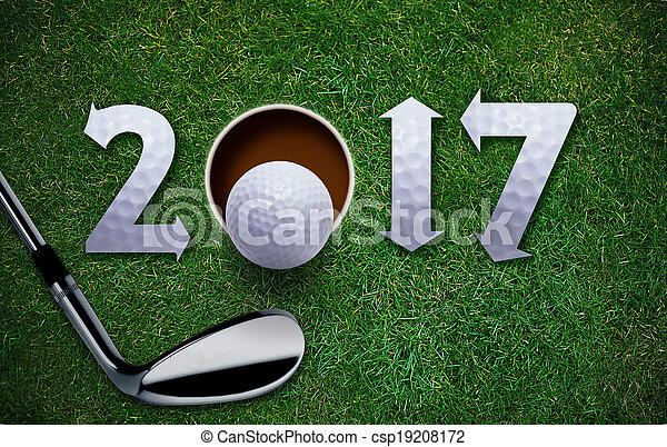 Happy New Golf year - csp19208172