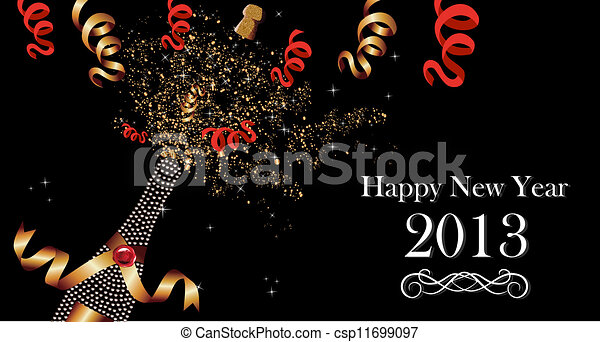 happy new year 2013 banner csp11699097