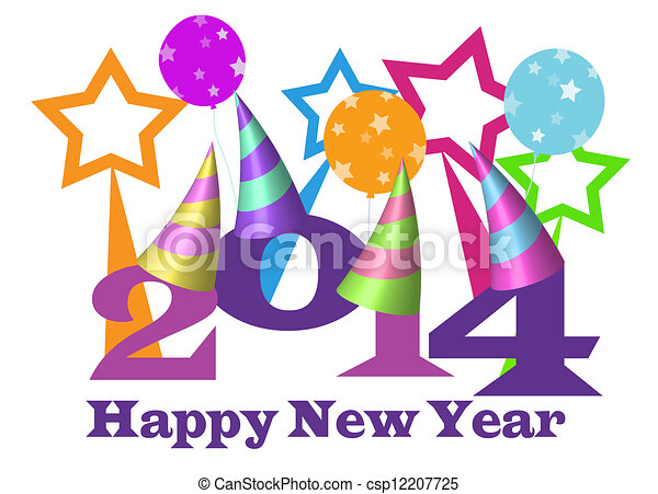 happy new year 2014 illustration with party hats clip art search rh canstockphoto com happy new year clip art free images happy new year clip art free download