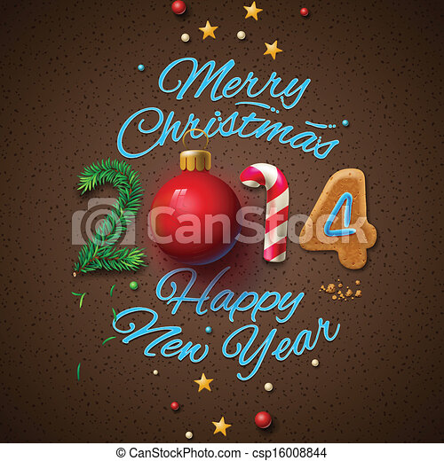 Happy new year 2014 greeting card m4hsunfo