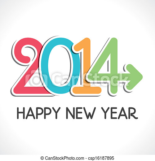 Happy new year 2014 greeting background vector happy new year 2014 greeting csp16187895 m4hsunfo
