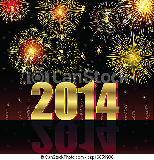 Happy New Year 2014 - csp16659900