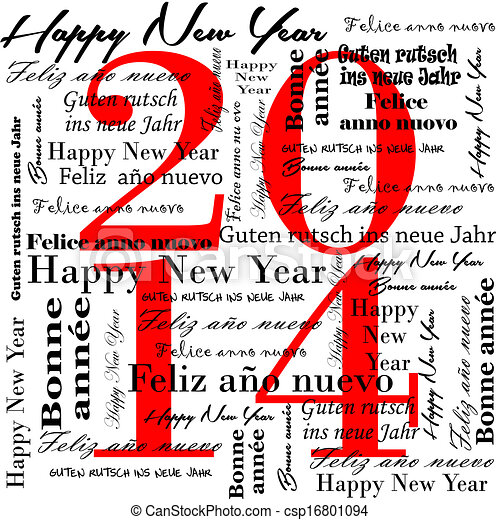 Happy new year 2014 words in many l. 2014 happy new year words in ...