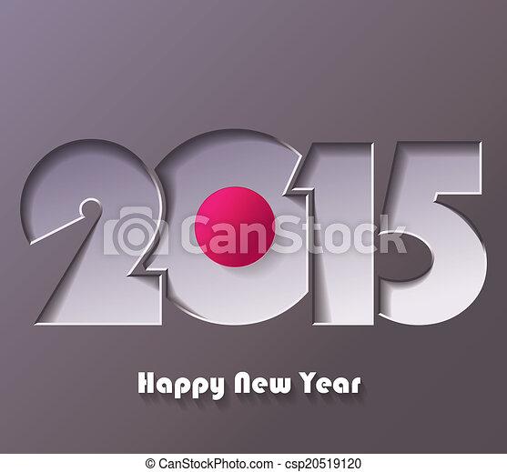 Happy new year 2015 creative greeting card design happy new year 2015 creative greeting card design csp20519120 m4hsunfo