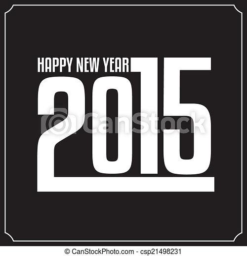 Happy New Year 2015 - csp21498231