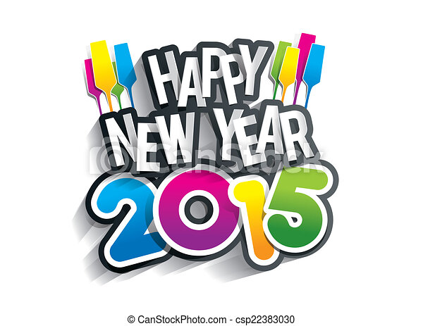 Happy new year 2015 greeting card vector illustration happy new year 2015 csp22383030 m4hsunfo