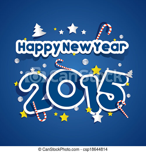 Happy new year 2015 greeting card vector illustration happy new year 2015 greeting card csp18644814 m4hsunfo