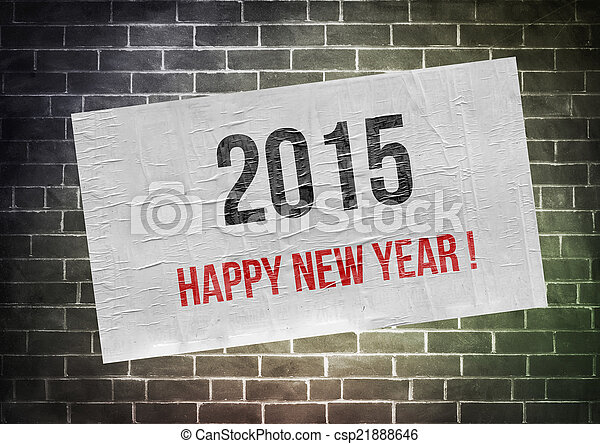 Happy new year 2015 ! - poster concept - csp21888646