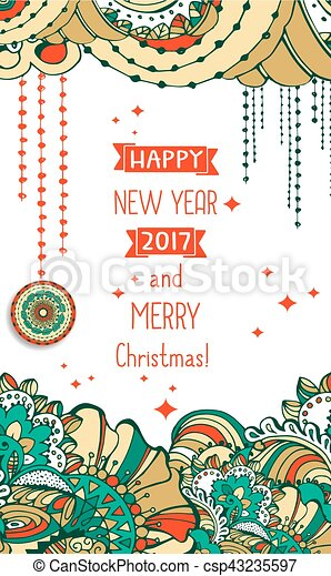 Happy new year 2017 celebration background.typography poster or card ...