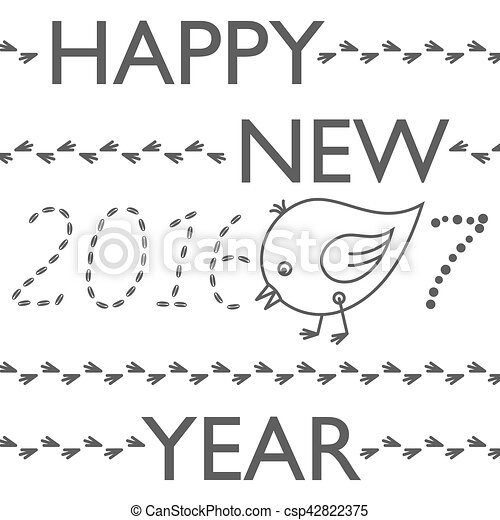 Happy new year 2017 funny card. year of rooster. Happy new year ...