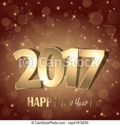 happy new year 2017 greetings background csp41872230