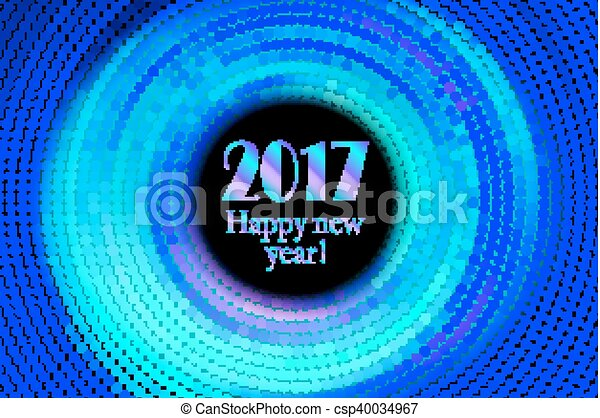 Happy New Year 2017 Halftone Banner Happy New Year 2017 And