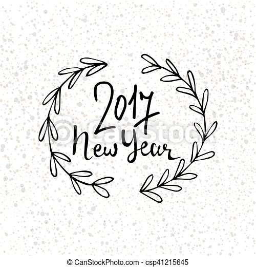 Happy New Year Lettering Design 66