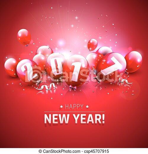 Happy New Year 2017 - csp45707915