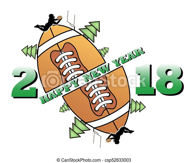 Happy New Year 2018 And Football Happy New Year 2018 And Ootball