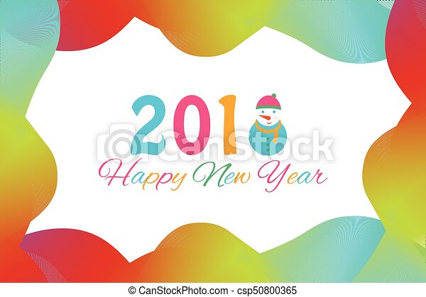 Happy new year 2018 background with snowman and snow vector clip happy new year 2018 background with snowman and snow vector illustration voltagebd Images