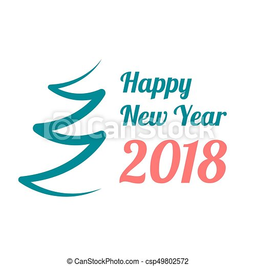 happy new year 2018 banner csp49802572
