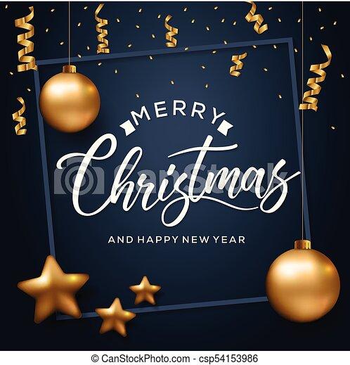 Happy New Year 2018 Card - csp54153986