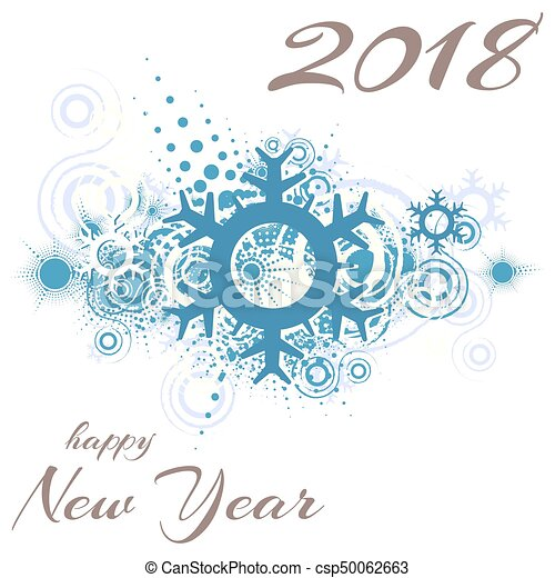 happy new year 2018 csp50062663