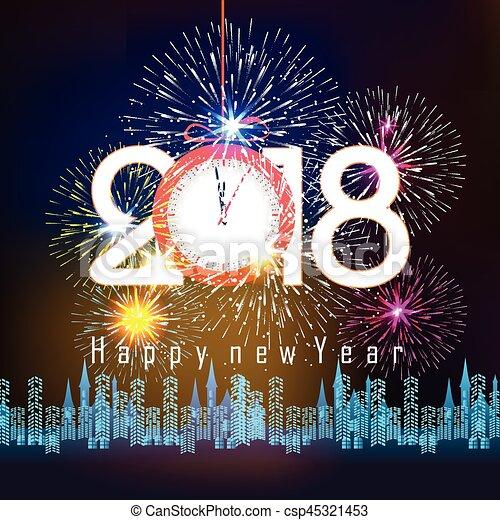 Happy New Year 2018   Csp45321453