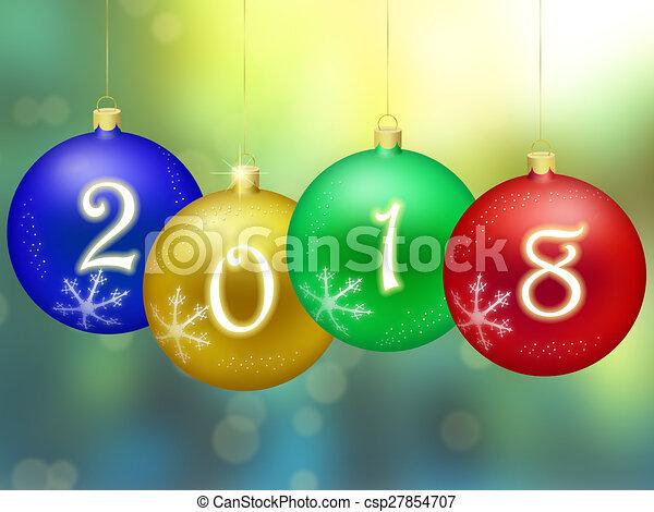 Happy New Year 2018 - csp27854707