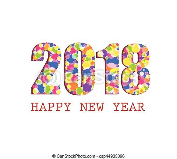 Happy New Year 2018   Csp44933096