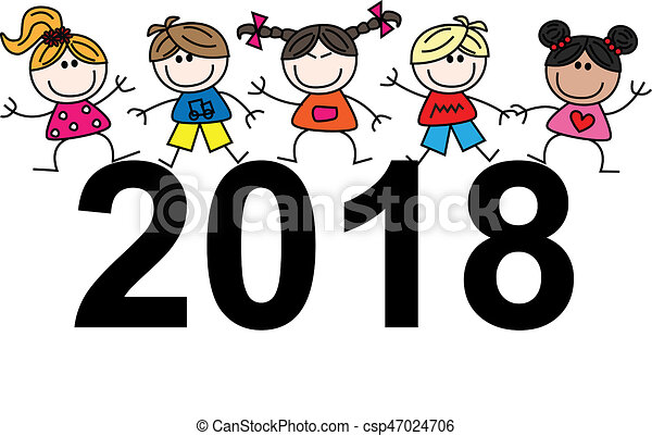 happy new year 2018 csp47024706