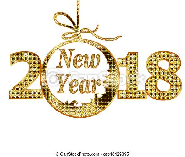 Happy new year 2018 - csp48429395