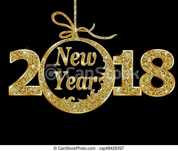happy new year 2018 csp48429397